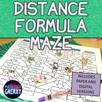 Distance Formula Activity