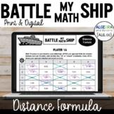 Distance Formula Activity - Battle My Math Ship Game