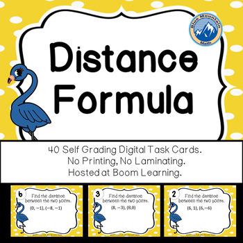 Distance Formula Boom Cards--Digital Task Cards