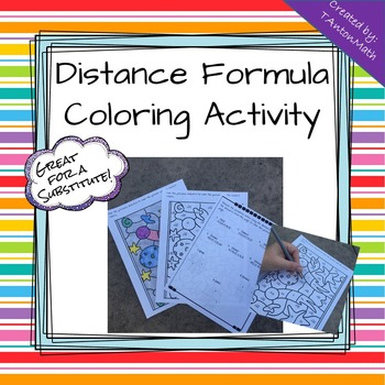 Distance Formula Coloring Activity