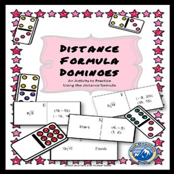 Distance Formula Domino Set