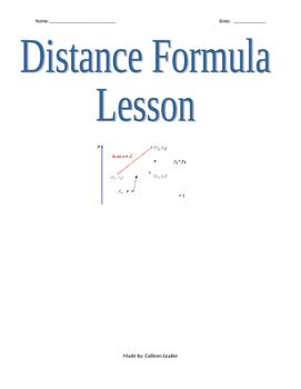 Distance Formula Lesson
