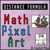 Distance Formula - Math Pixel Art Digital Activity - Pirate Ship