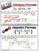 Distance Formula & MidPoint Doodle Notes or Graphic Organizer