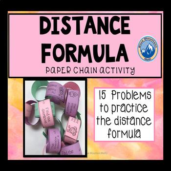 Distance Formula Paper Chain Activity