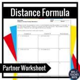 Distance Formula Partner Worksheet