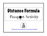Distance Formula Passport Activity