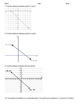 Distance Formula Pythagorean Theorem