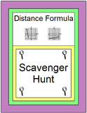 DISTANCE FORMULA: SCAVENGER HUNT - 20 PROBLEMS WITH 20 TASK CARDS