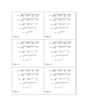 Pythagorean Theorem - Distance Formula Template