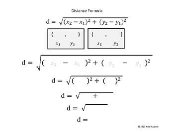Distance Formula Template