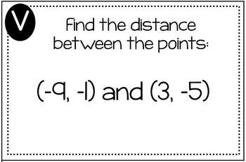 Distance Formula Triples Activity