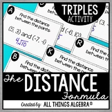 Distance Formula Triples Activity