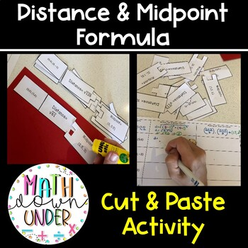 Distance Formula and Midpoint Formula Cut n Paste Activity