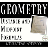 Distance Formula and Midpoint Formula Color-Coded Interactive Notebook