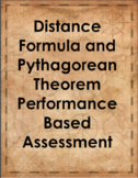 Distance Formula and Pythagorean Theorem Performance Based
