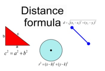 Distance Formula for Power Point 2 lessons and 4 Assignments