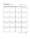 Distance Formula worksheet