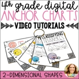 2D Shapes   Digital Anchor Charts with Video Tutorials   Distance Learning