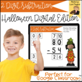 Distance Learning- 2 Digit Subtraction Halloween Digital T