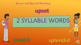 Distance Learning 2 syllable words Syllable Division PPT