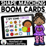 Distance Learning- 2D Shape Matching Boom Cards Deck for P