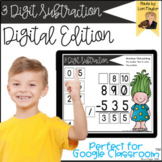 Distance Learning- 3 Digit Subtraction Digital Task Cards Set 1