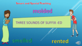 Distance Learning 3 sounds of suffix -ed powerpoint & Goog