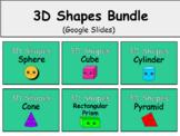 Distance Learning 3D Shapes Bundle (Google Slides)