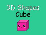 Distance Learning 3D Shapes Cube (Google Slides)