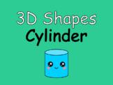 Distance Learning 3D Shapes Cylinder (Google Slides)