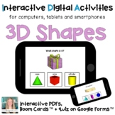 Digital ⋅ 3D Shapes ⋅ Interactive PDF, Boom Cards and Quiz