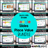 Distance Learning - 3rd - 4th Place Value Google Classroom Bundle