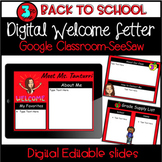 Distance Learning - 3rd Grade Digital and Editable Welcome Letter