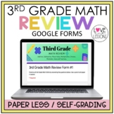 Distance Learning 3rd Grade Math Review  /  Google Forms