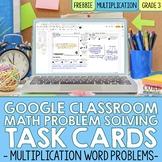 Distance Learning 3rd Grade Multiplication Digital Word Pr