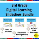 Distance Learning 3rd Grade Reading Standards-Based Slides