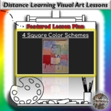Distance Learning 4 Square Color Schemes Visual Art Lesson Plan