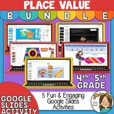 Distance Learning 4th - 5th grade Digital Place Value (wit