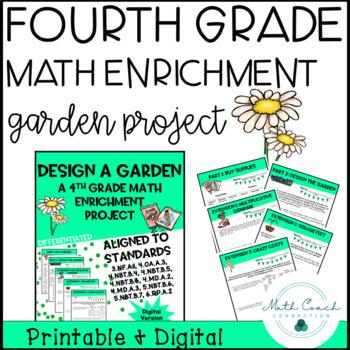 Distance Learning 4th Grade Math Digital Project   Design ...