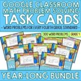 Digital 4th Grade Math Word Problem Solving Task Cards | A