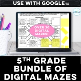 Distance Learning 5th Grade Math Digital Mazes Bundle for