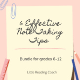 Distance Learning 6 Effective Note-Taking Tips Bundle