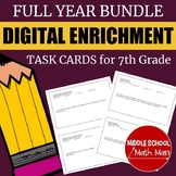 Distance Learning 7th Grade Math Digital Enrichment Task C