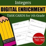 Distance Learning 7th Grade Math Integers Digital Enrichme