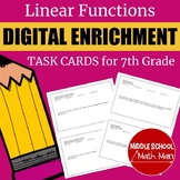 Distance Learning 7th Grade Math Linear Functions Digital