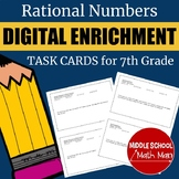 Distance Learning 7th Grade Math Rational Numbers Digital