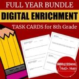 Distance Learning 8th Grade Math Digital Enrichment Task C