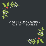 Distance Learning A Christmas Carol Activity Bundle