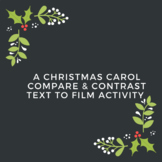 Distance Learning A Christmas Carol Compare & Contrast Tex